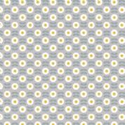 Lewis & Irene - Love Me Love Me Not - 5852 - Rows of Daisies, Blue on Grey - A274.2 - Cotton Fabric